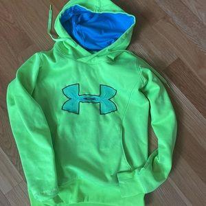 Under Armour Boy's Neon Green Hoodie - XS